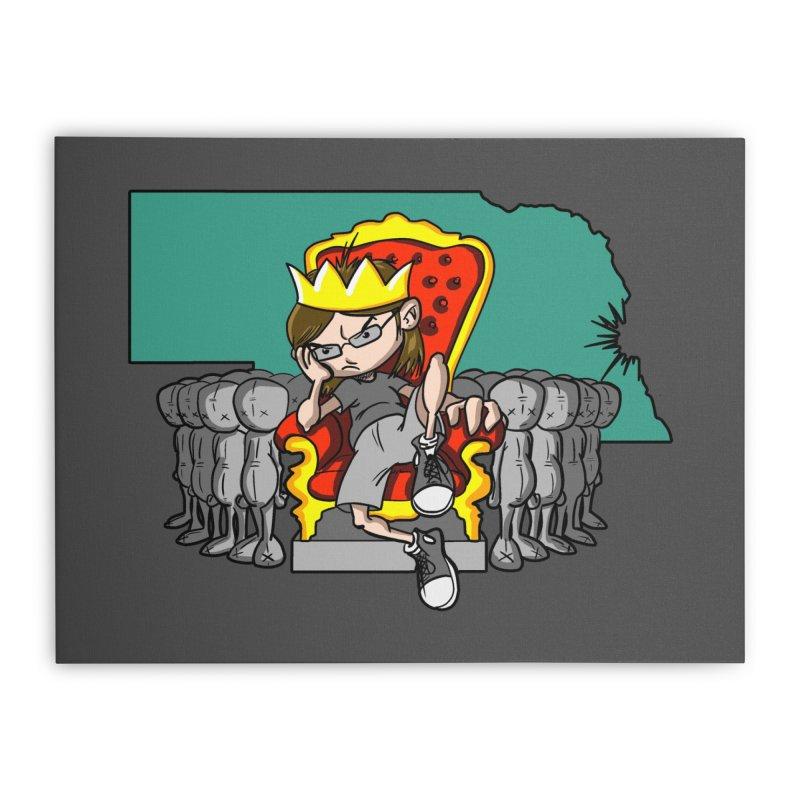 King of Nebraska Home Stretched Canvas by Comedyrockgeek 's Artist Shop