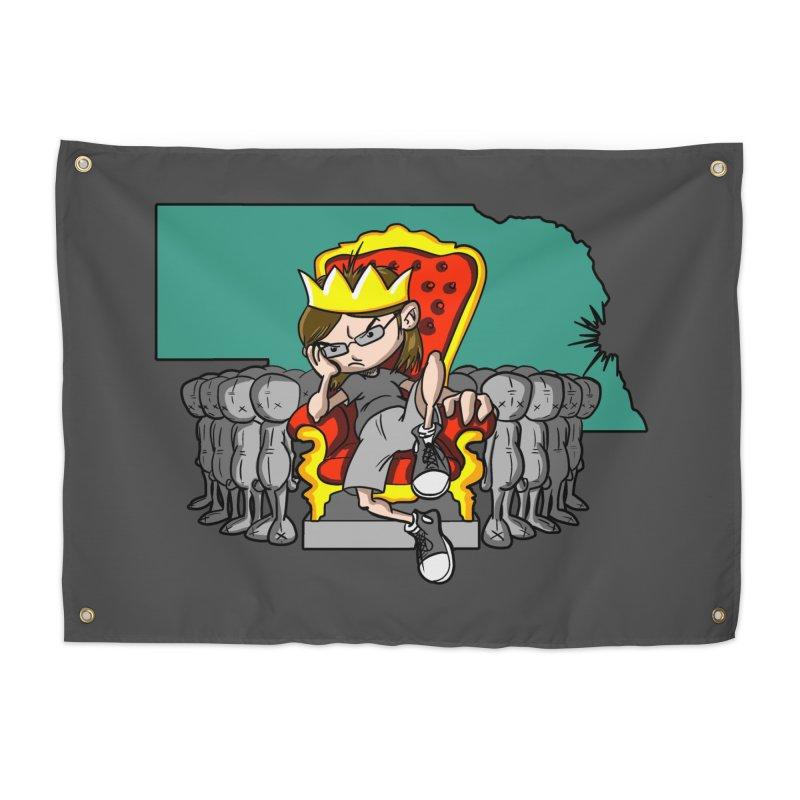 King of Nebraska Home Tapestry by Comedyrockgeek 's Artist Shop