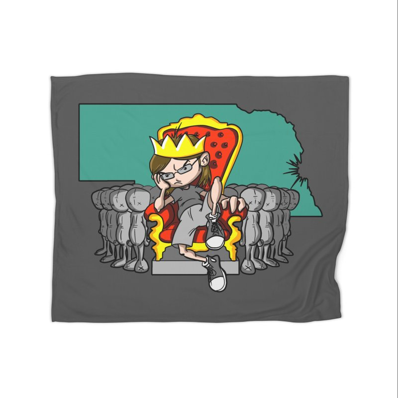 King of Nebraska Home Fleece Blanket Blanket by Comedyrockgeek 's Artist Shop