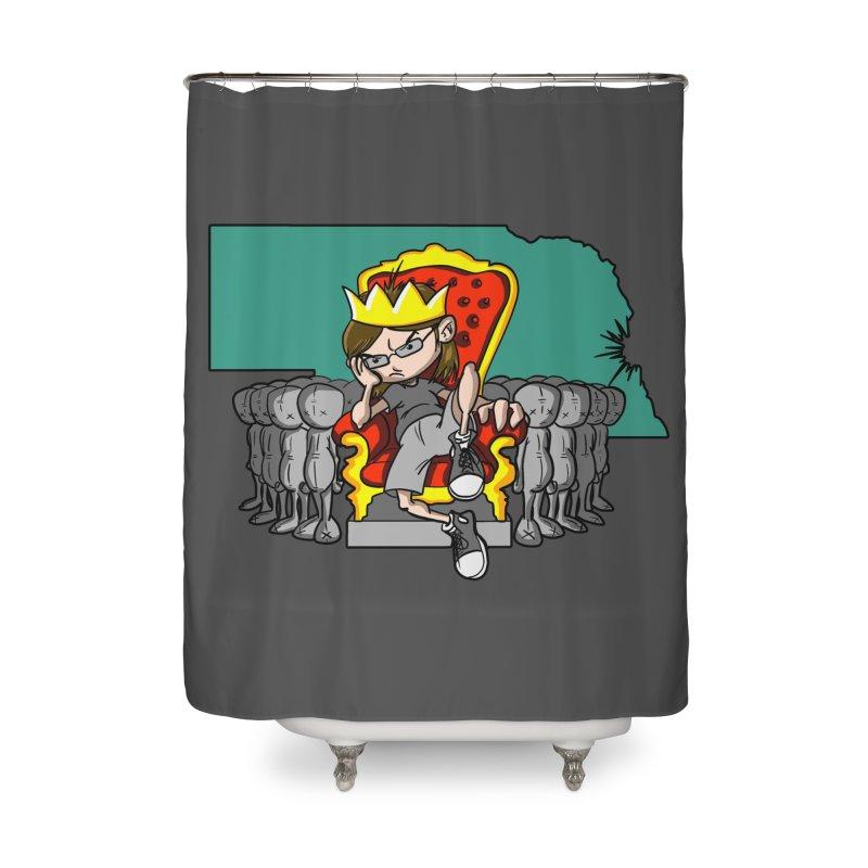 King of Nebraska Home Shower Curtain by Comedyrockgeek 's Artist Shop