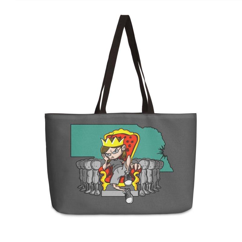 King of Nebraska Accessories Weekender Bag Bag by Comedyrockgeek 's Artist Shop