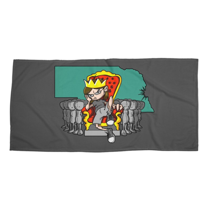 King of Nebraska Accessories Beach Towel by Comedyrockgeek 's Artist Shop
