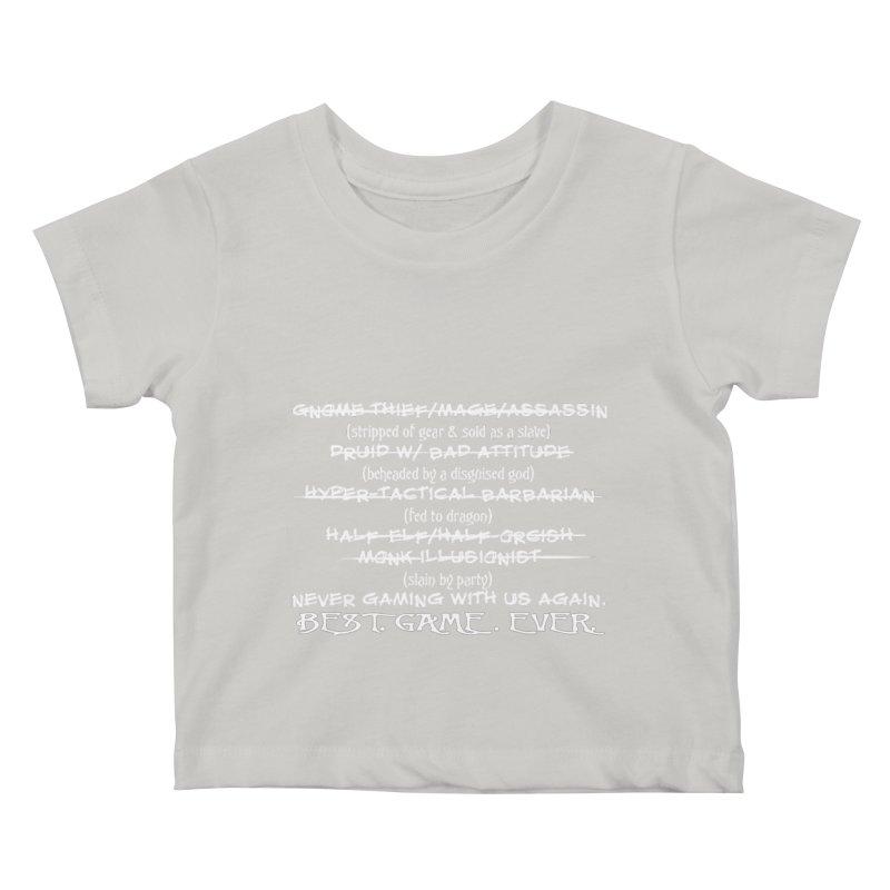 Best Game Ever Kids Baby T-Shirt by Comedyrockgeek 's Artist Shop