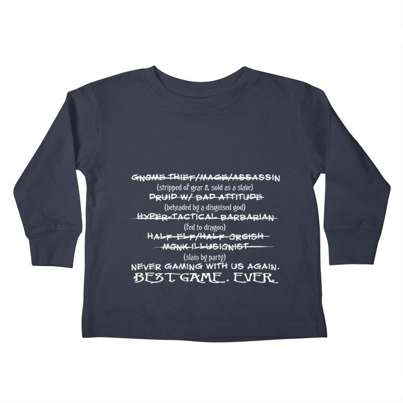 Best Game Ever Kids Toddler Longsleeve T-Shirt by Comedyrockgeek 's Artist Shop