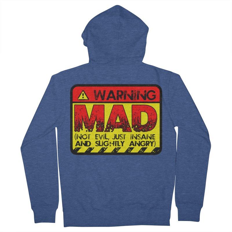 Mad Women's Zip-Up Hoody by Comedyrockgeek 's Artist Shop