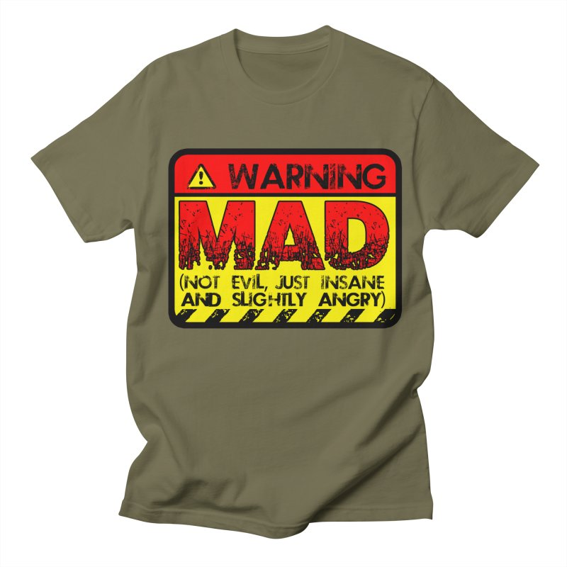 Mad Women's Unisex T-Shirt by Comedyrockgeek 's Artist Shop