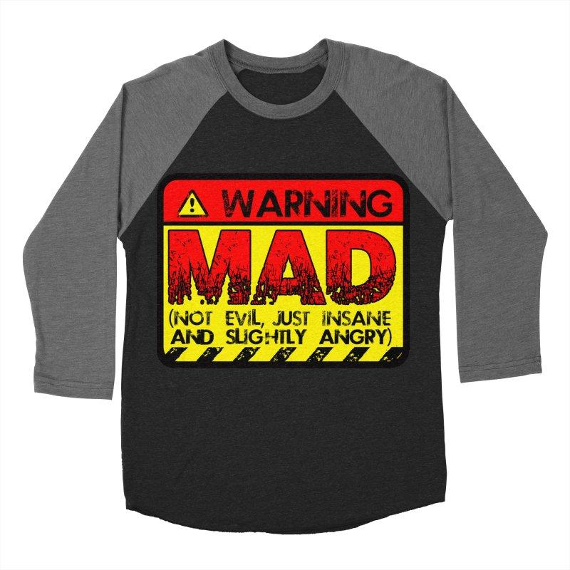Mad Women's Baseball Triblend T-Shirt by Comedyrockgeek 's Artist Shop