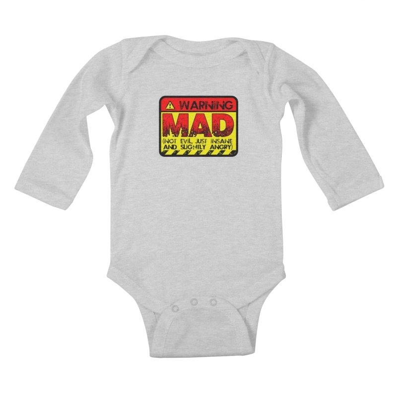 Mad Kids Baby Longsleeve Bodysuit by Comedyrockgeek 's Artist Shop