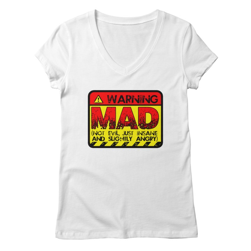 Mad Women's Regular V-Neck by Comedyrockgeek 's Artist Shop