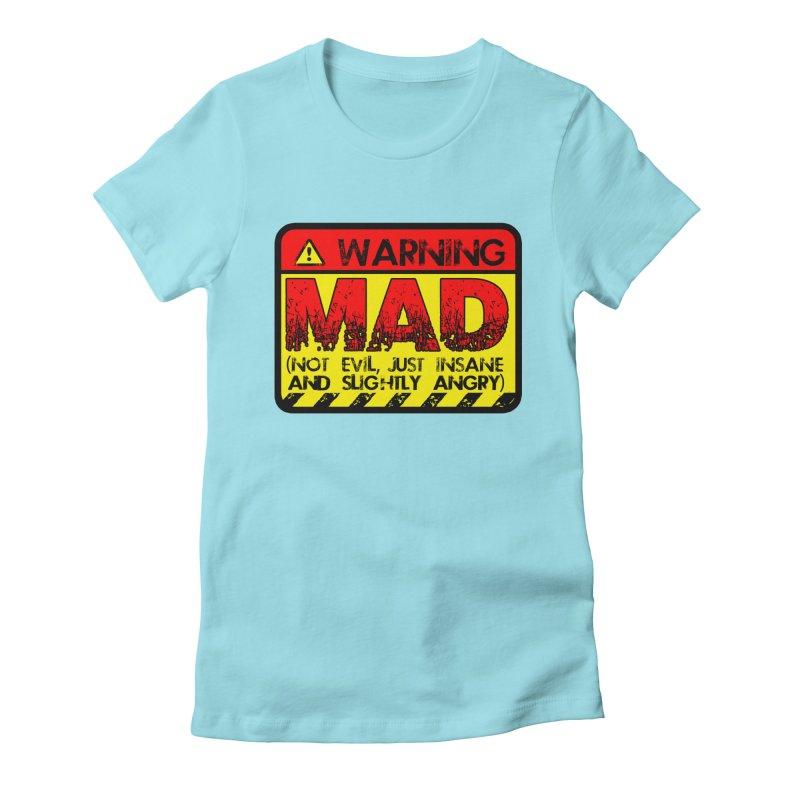 Mad Women's Fitted T-Shirt by Comedyrockgeek 's Artist Shop
