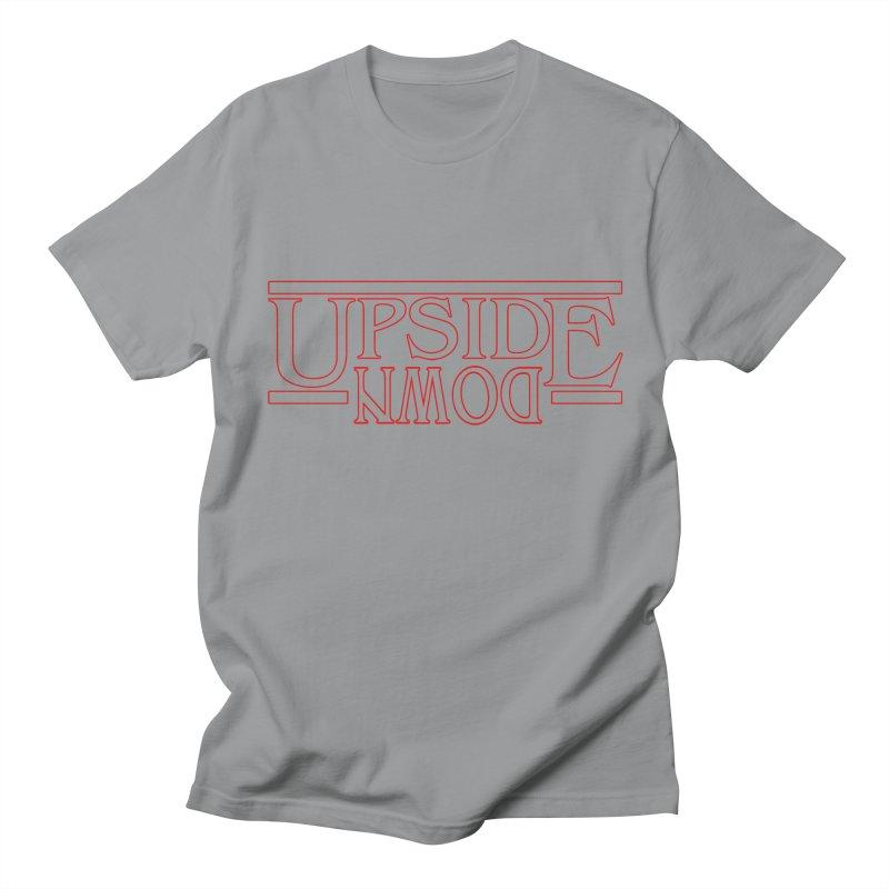 Upside Down Men's T-shirt by Comedyrockgeek 's Artist Shop