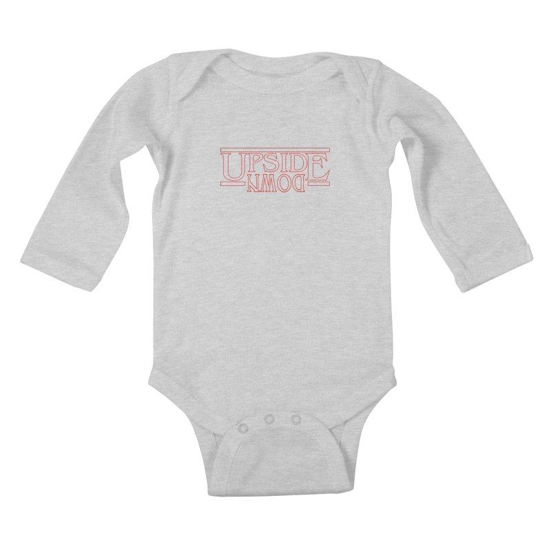 Upside Down Kids Baby Longsleeve Bodysuit by Comedyrockgeek 's Artist Shop