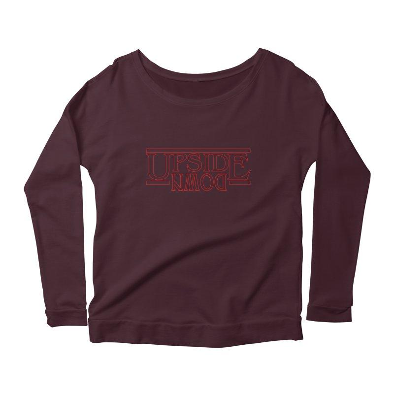 Upside Down Women's Scoop Neck Longsleeve T-Shirt by Comedyrockgeek 's Artist Shop