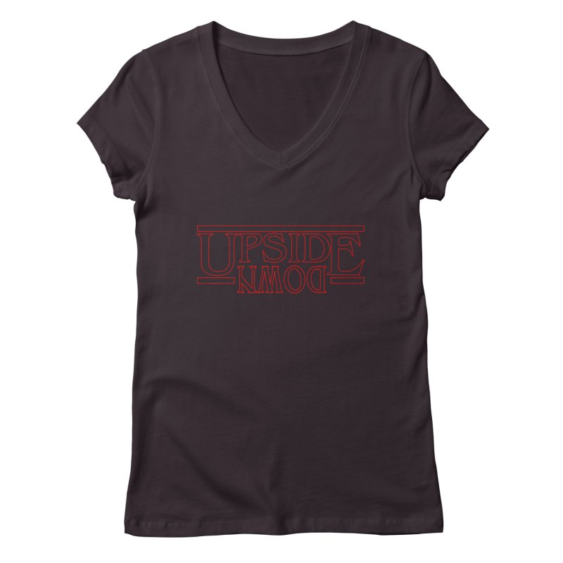 Upside Down Women's Regular V-Neck by Comedyrockgeek 's Artist Shop