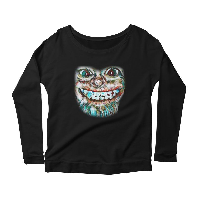 Cheshire Mikey Women's Scoop Neck Longsleeve T-Shirt by Comedyrockgeek 's Artist Shop