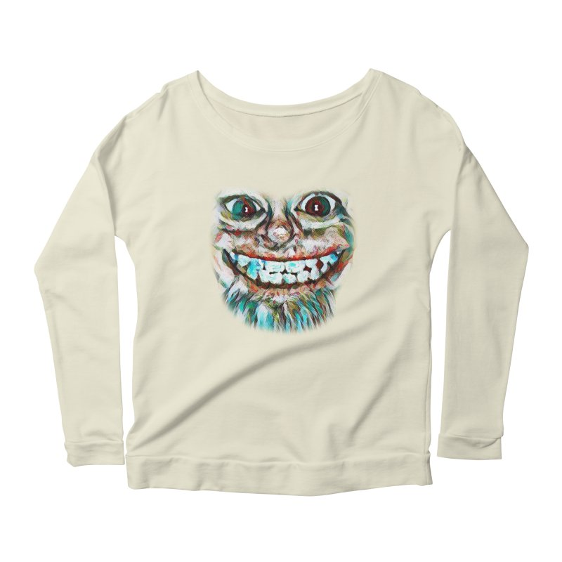 Cheshire Mikey Women's Scoop Neck Longsleeve T-Shirt by Comedyrockgeek 's Artist Shop