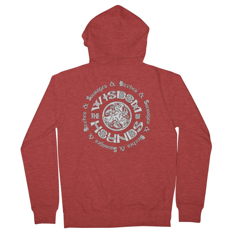 Wisdom of Hounds Men's French Terry Zip-Up Hoody by Comedyrockgeek 's Artist Shop
