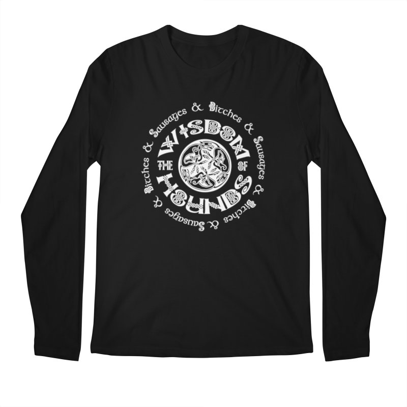 Wisdom of Hounds Men's Regular Longsleeve T-Shirt by Comedyrockgeek 's Artist Shop