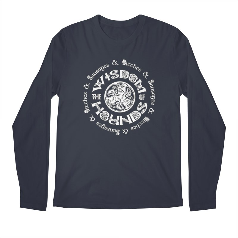 Wisdom of Hounds Men's Regular Longsleeve T-Shirt by Comedyrockgeek 's Artist Shop