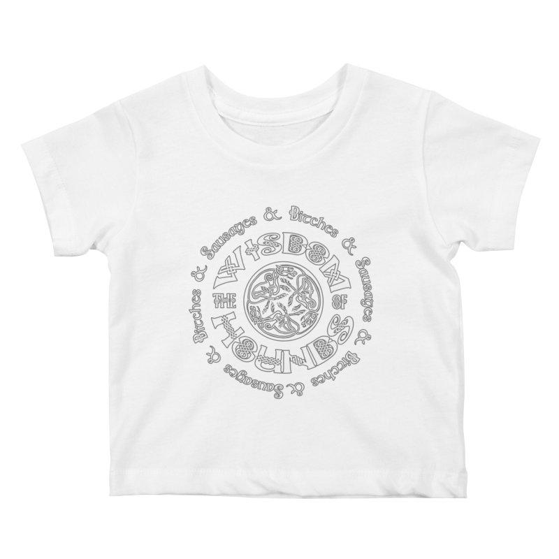 Wisdom of Hounds Kids Baby T-Shirt by Comedyrockgeek 's Artist Shop