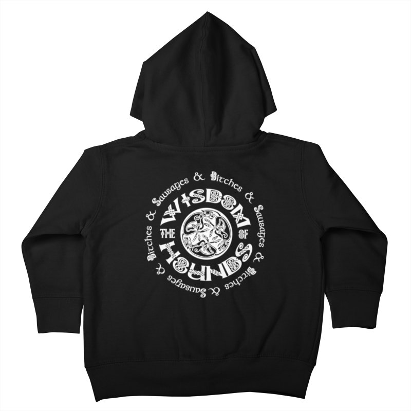 Wisdom of Hounds Kids Toddler Zip-Up Hoody by Comedyrockgeek 's Artist Shop