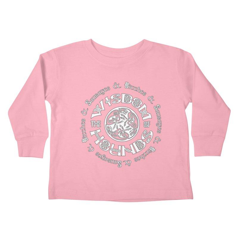 Wisdom of Hounds Kids Toddler Longsleeve T-Shirt by Comedyrockgeek 's Artist Shop