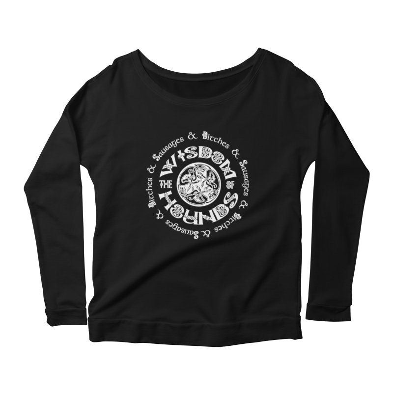 Wisdom of Hounds Women's Scoop Neck Longsleeve T-Shirt by Comedyrockgeek 's Artist Shop