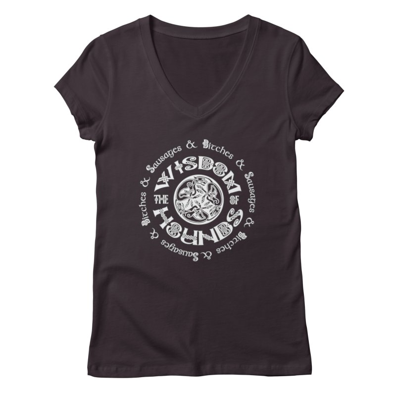 Wisdom of Hounds Women's Regular V-Neck by Comedyrockgeek 's Artist Shop