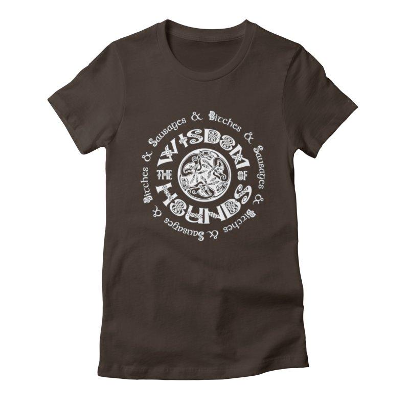 Wisdom of Hounds Women's Fitted T-Shirt by Comedyrockgeek 's Artist Shop