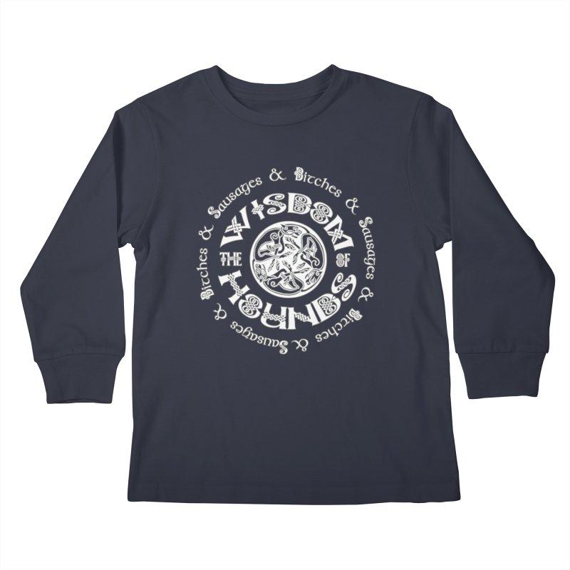 Wisdom of Hounds Kids Longsleeve T-Shirt by Comedyrockgeek 's Artist Shop