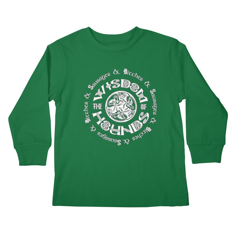 Wisdom of Hounds Kids Longsleeve T-Shirt by Comedyrockgeek 's Artist Shop
