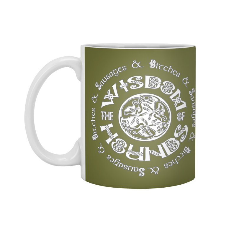 Wisdom of Hounds Accessories Standard Mug by Comedyrockgeek 's Artist Shop