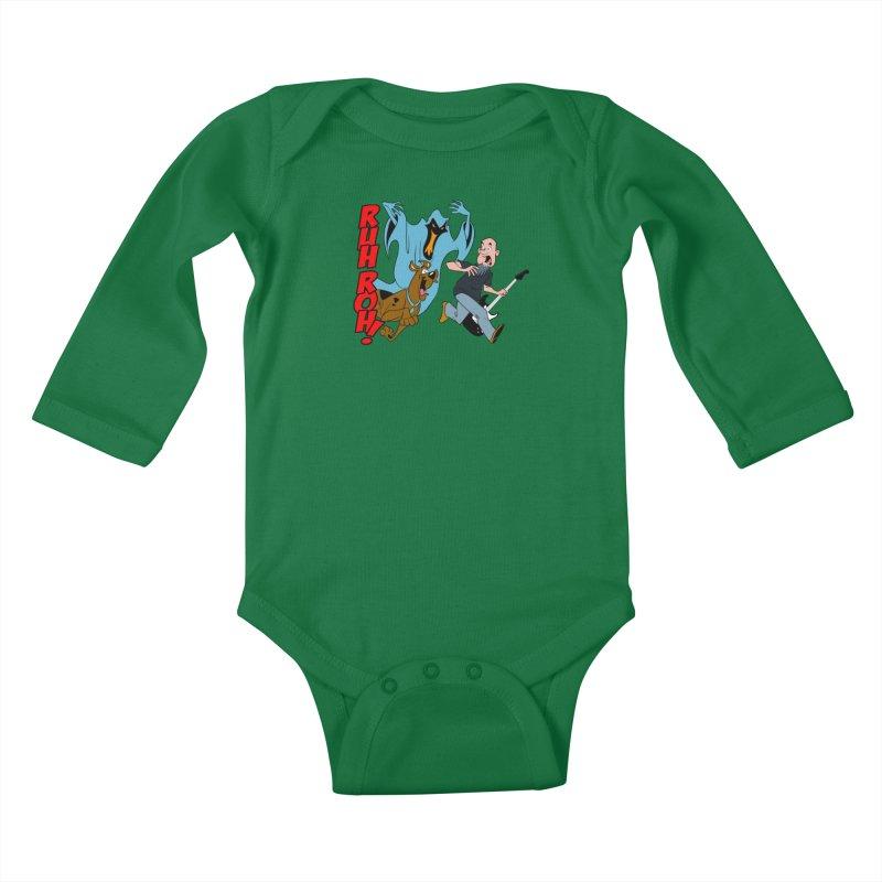 Ruh Roh! Kids Baby Longsleeve Bodysuit by Comedyrockgeek 's Artist Shop