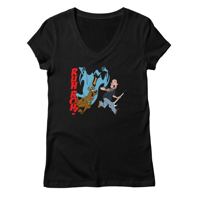 Ruh Roh! Women's Regular V-Neck by Comedyrockgeek 's Artist Shop
