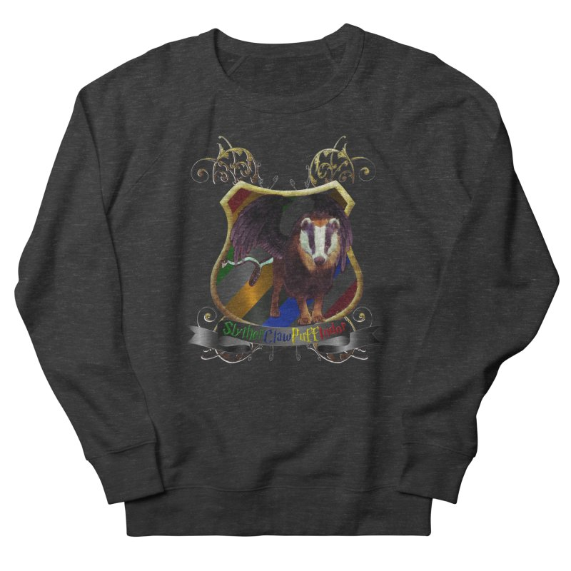 SlytherClawPuffIndor Men's French Terry Sweatshirt by Comedyrockgeek 's Artist Shop