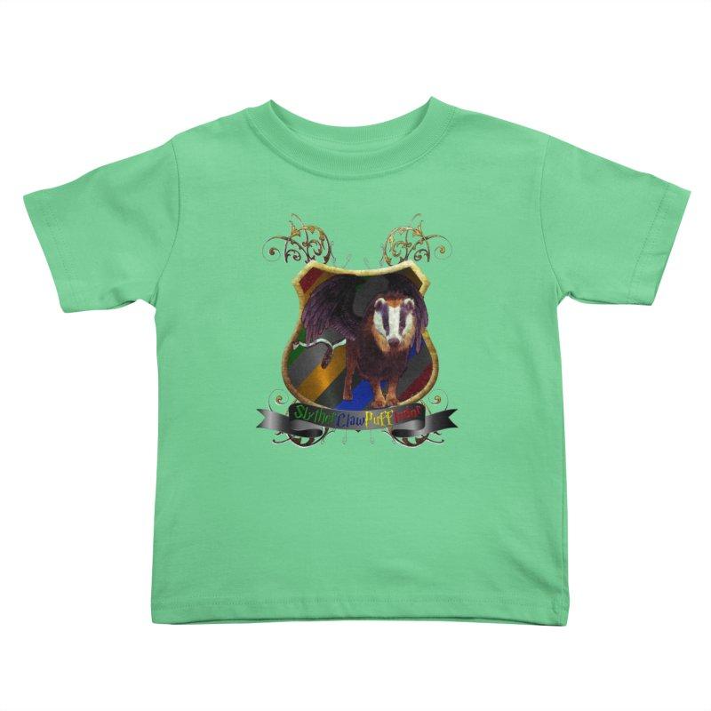 SlytherClawPuffIndor Kids Toddler T-Shirt by Comedyrockgeek 's Artist Shop