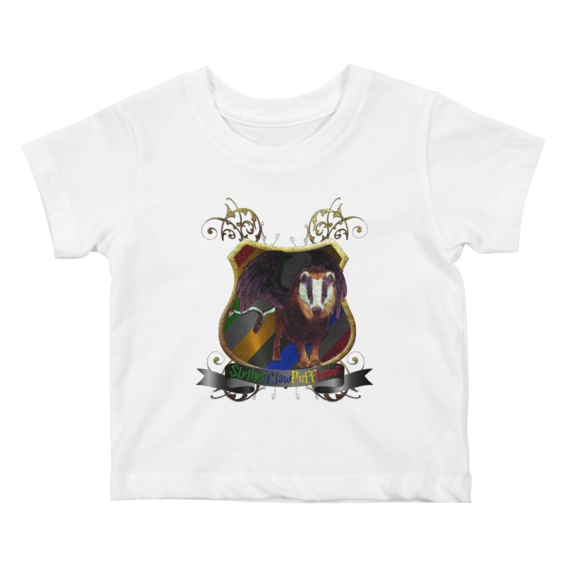 SlytherClawPuffIndor Kids Baby T-Shirt by Comedyrockgeek 's Artist Shop