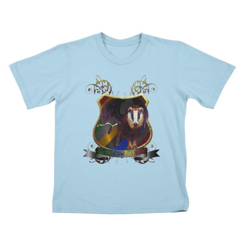 SlytherClawPuffIndor Kids T-Shirt by Comedyrockgeek 's Artist Shop