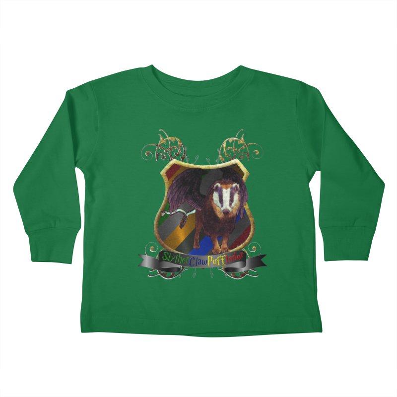 SlytherClawPuffIndor Kids Toddler Longsleeve T-Shirt by Comedyrockgeek 's Artist Shop