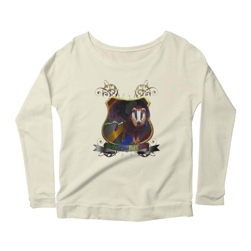 SlytherClawPuffIndor Women's Scoop Neck Longsleeve T-Shirt by Comedyrockgeek 's Artist Shop