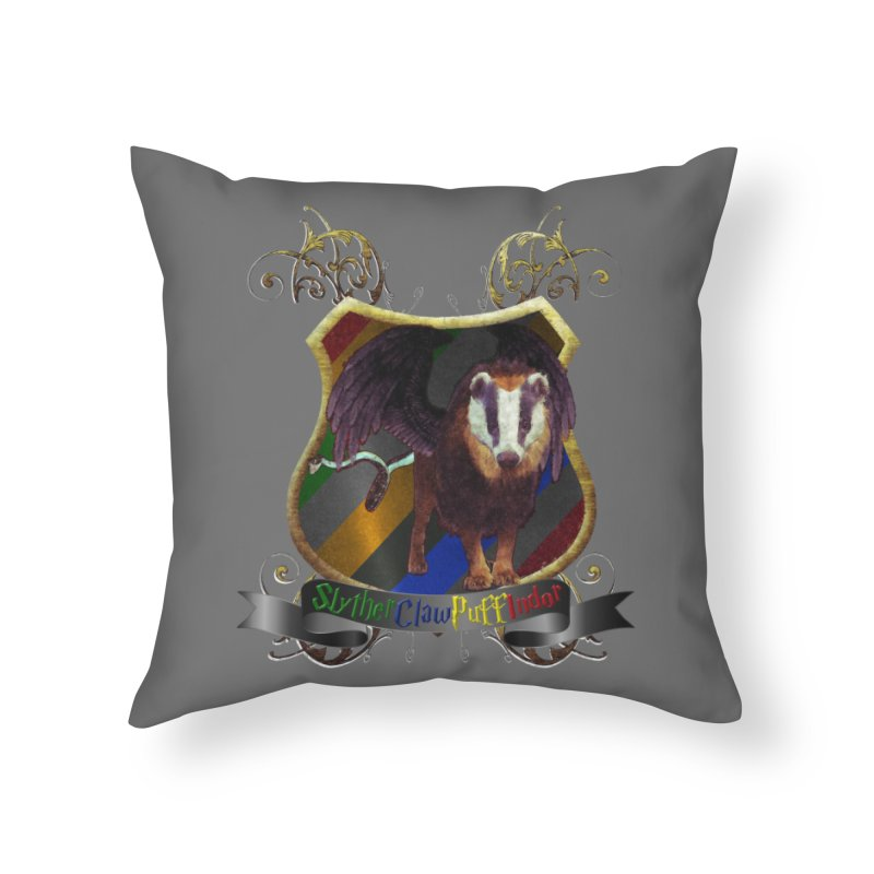 SlytherClawPuffIndor Home Throw Pillow by Comedyrockgeek 's Artist Shop