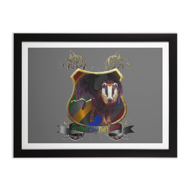 SlytherClawPuffIndor Home Framed Fine Art Print by Comedyrockgeek 's Artist Shop
