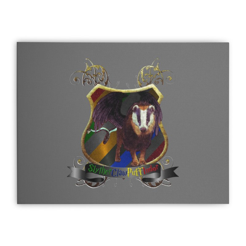 SlytherClawPuffIndor Home Stretched Canvas by Comedyrockgeek 's Artist Shop