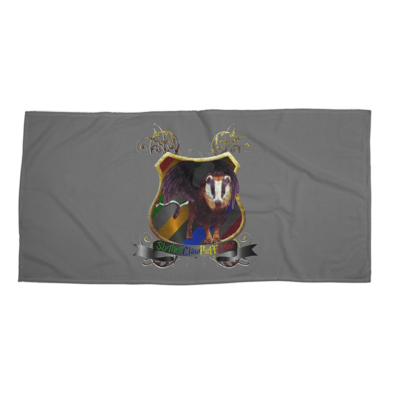 SlytherClawPuffIndor Accessories Beach Towel by Comedyrockgeek 's Artist Shop