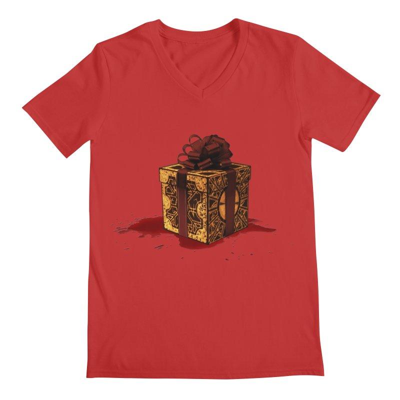 Dangerous Gift Men's Regular V-Neck by Comedyrockgeek 's Artist Shop