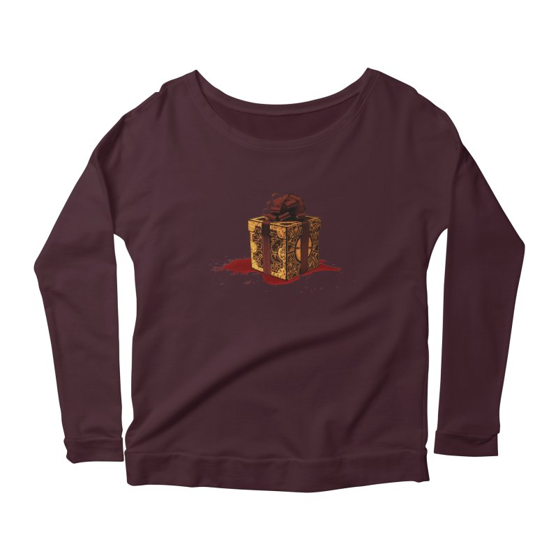 Dangerous Gift Women's Scoop Neck Longsleeve T-Shirt by Comedyrockgeek 's Artist Shop
