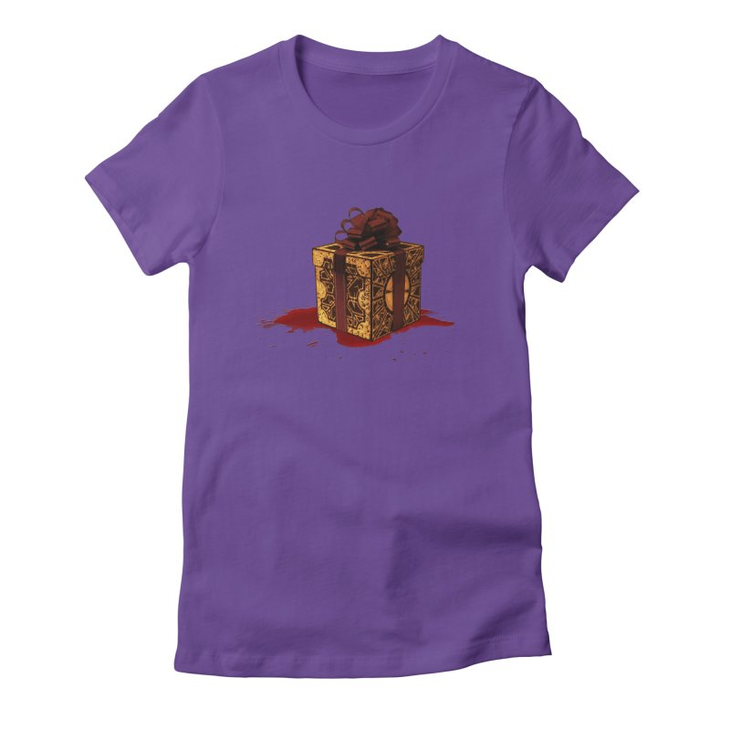 Dangerous Gift Women's Fitted T-Shirt by Comedyrockgeek 's Artist Shop