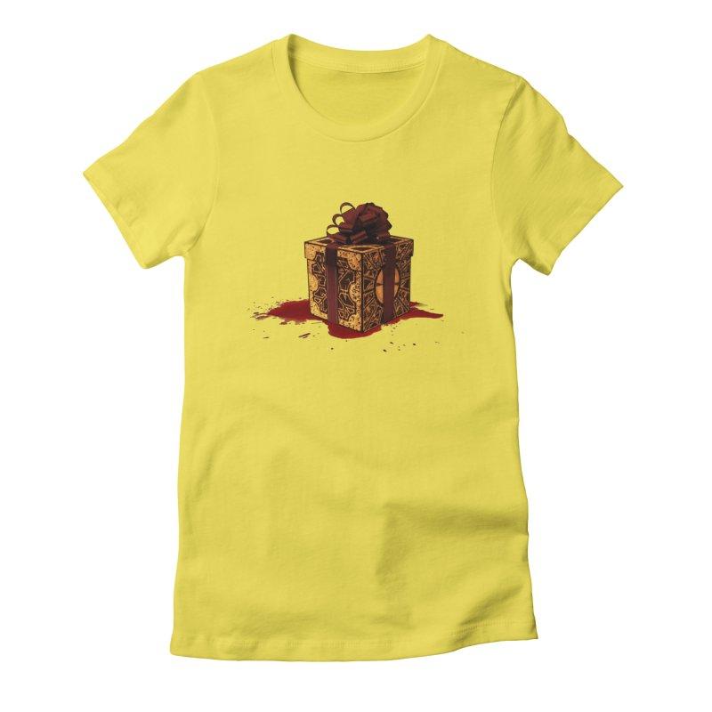 Dangerous Gift Women's Fitted T-Shirt by Comedyrockgeek 's Artist Shop