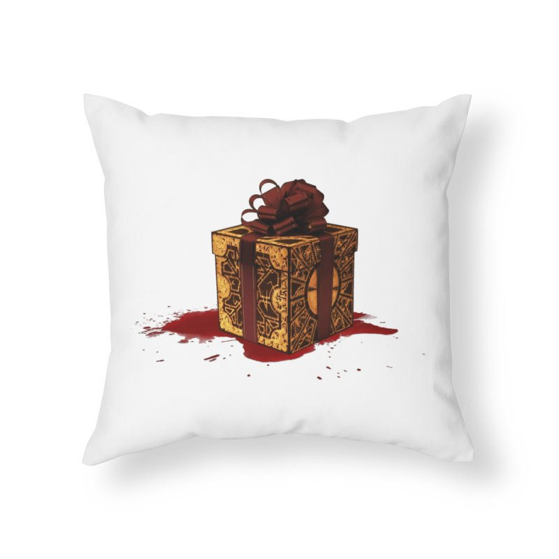 Dangerous Gift Home Throw Pillow by Comedyrockgeek 's Artist Shop