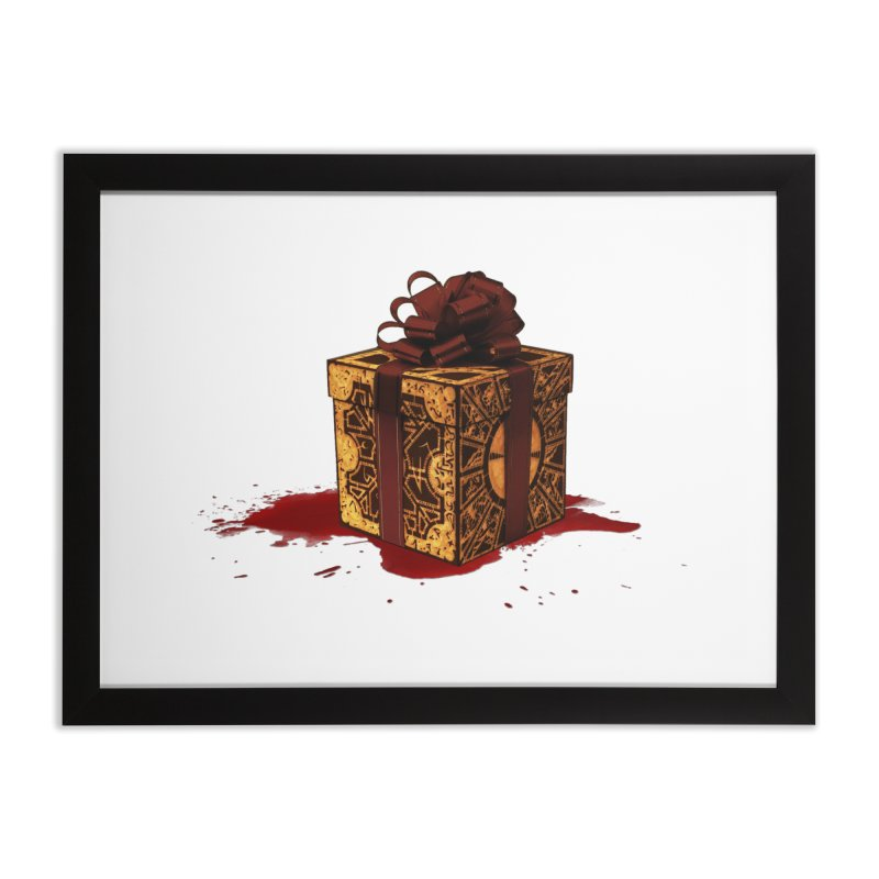 Dangerous Gift Home Framed Fine Art Print by Comedyrockgeek 's Artist Shop
